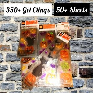 🎃FINAL PRICE ~ Over 350 Gel Clings in 50+ Sheets